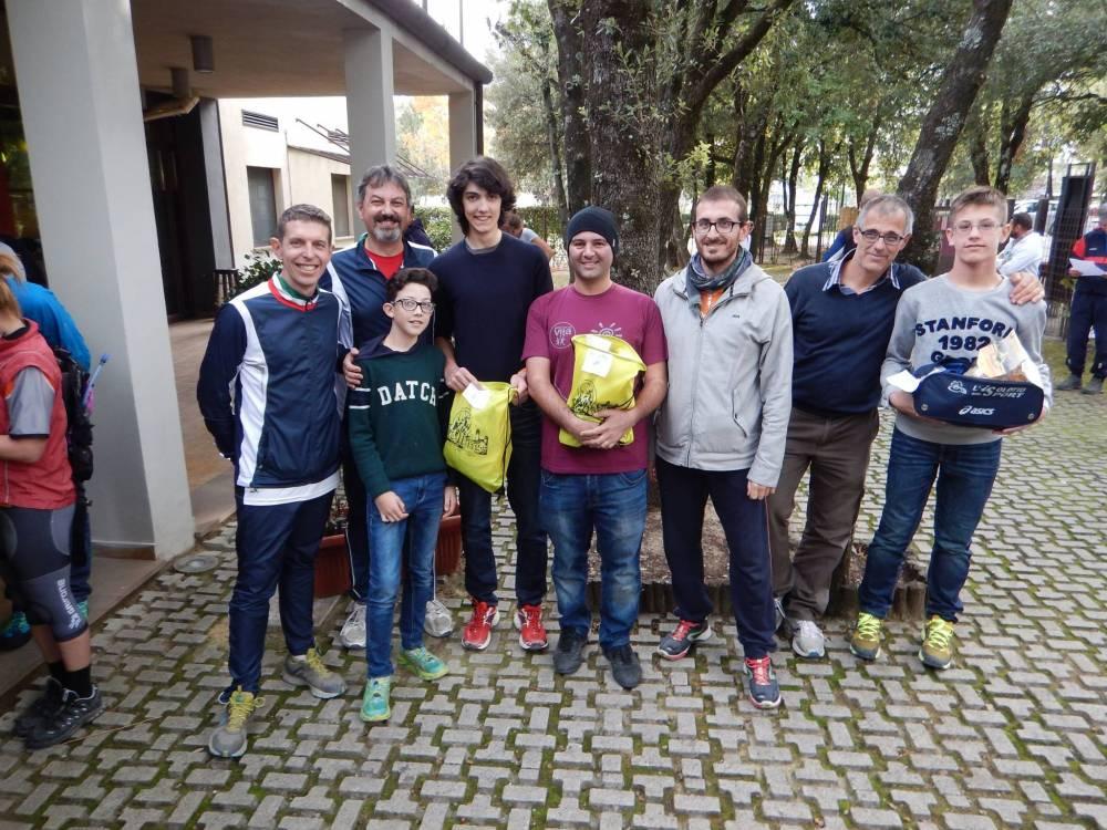 La premiazione del Rogaining di San Gimignano della categoria 3 ore uomini