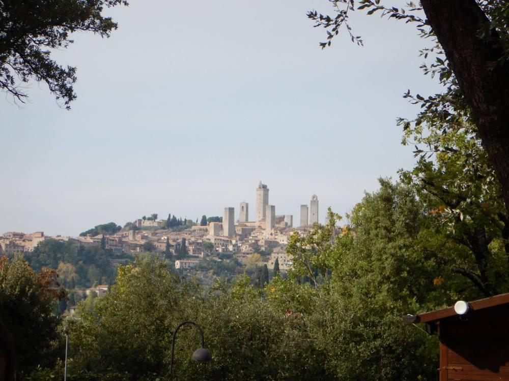 La splendida veduta di San Gimignano